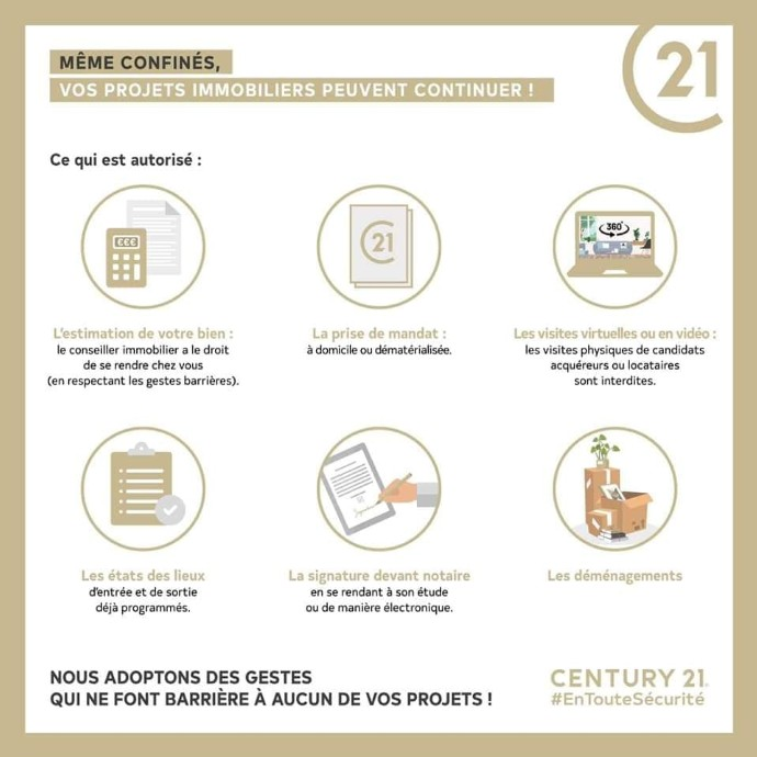 Vos projets immobiliers peuvent continuer!